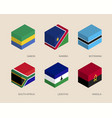 set of isometric 3d boxes vector image vector image