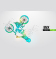 silhouette a bmx rider thanks for watching vector image vector image