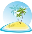 simple with small island vector image vector image