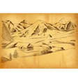 sketch of the mountains vector image vector image