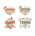 Tennis Badge Collection vector image