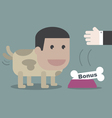 The dog happy with bone in business concept vector image