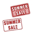 Two realistic Summer Sale stamps on white vector image vector image
