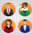 User icons with faces of people vector image