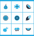 vegetable icons colored set with beet cocoanut vector image