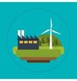 wind turbines industrial green energy vector image vector image