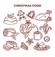 winter holidays celebration christmas food vector image vector image