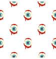 zombie eyeball pattern seamless vector image