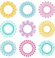 Napkin lace design elements vector image