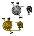 Bicycle transmission set vector image