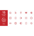 15 cpu icons vector image vector image