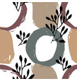 abstract floral background with circles pattern vector image