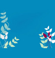 abstract spring summer floral background vector image