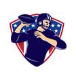 american quarterback football player passing vector image vector image