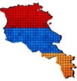 Armenia map with flag inside vector image vector image