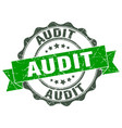 audit stamp sign seal vector image vector image