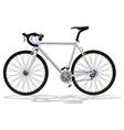 Basic road bike vector image vector image