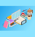 brainstorm clip art isometric style vector image vector image
