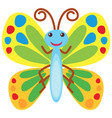 butterfly with colorful wings vector image vector image