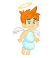 cartoon of christmas angel vector image