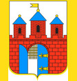 coat of arms of bydgoszcz in kuyavian-pomeranian vector image vector image
