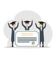 college student graduation certificate flat vector image vector image