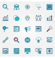 Colorful internet marketing icons vector image
