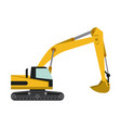 construction backhoe vehicle vector image vector image