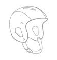 crash helmet lining draw profile vector image vector image