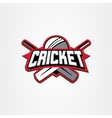 cricket sport logo with vector image vector image
