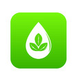 drop eco icon green vector image vector image