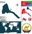 Eritrea map world vector image vector image