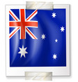 flag of australia on square paper vector image vector image