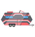 flat classic camper trailer recreational vector image vector image