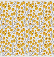 floral buds on white background floral seamless vector image