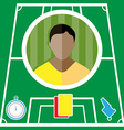 Football Player Icon vector image vector image