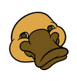 funny happy cartoon platypus or duckbill vector image vector image