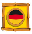 germany flag on square frame vector image vector image