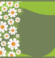 green background with abstract spring vector image