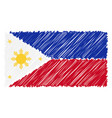 hand drawn national flag of phillippines isolated vector image vector image