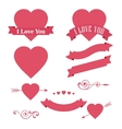 Happy Valentines Day design element Ornaments vector image