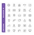 Line icons set education
