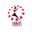 medical rehabilitation abstract logotype symbol vector image vector image