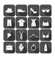 Men and women clothes accessories icons vector image