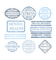 mental disorder stamps set vector image vector image