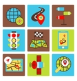 Mobile navigation icons vector image vector image