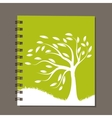 Notebook abstract tree design vector image vector image