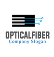 Optical Fiber Design vector image