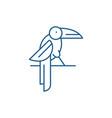 parrot line icon concept parrot flat vector image vector image
