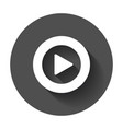play icon play video in flat style on black vector image